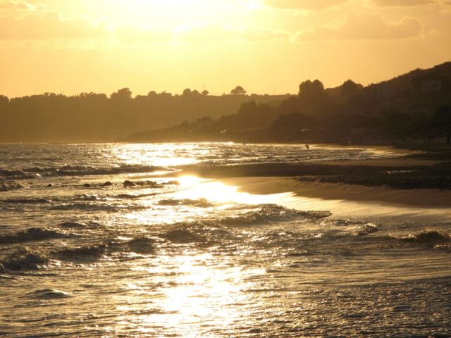 Foto panoramica spiaggia di Menfi in Sicilia