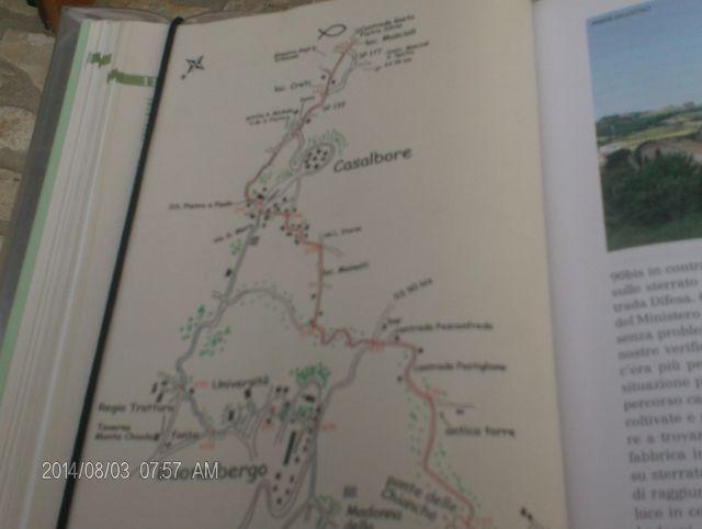 percorso via Francigena nel sud