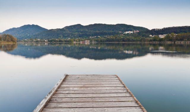 Molo in legno a Belluno