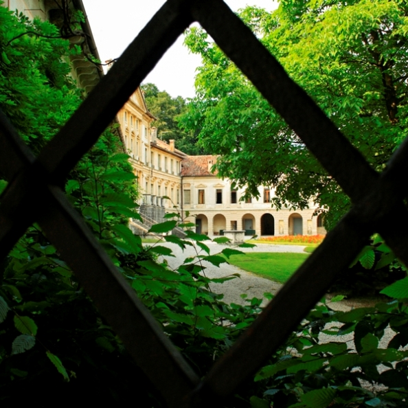 Giardini nella Villa Modolo a Belluno nel Veneto