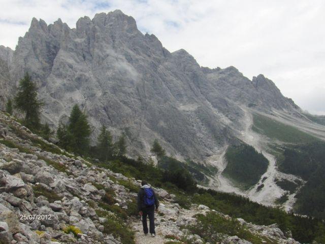 Panorama delle montagne a Sesto