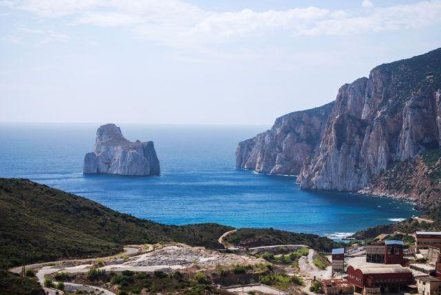 Foto panoramica spiagge e mare a Buggerru Sardegna