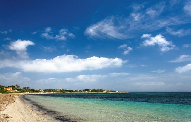 Panorama spiaggia a Carloforte Sardegna