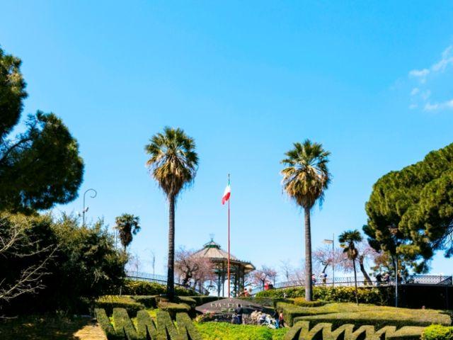 Foto panoramica del giardino Bellini Sicilia