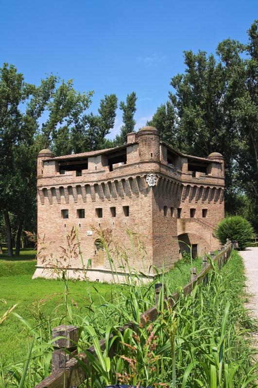 Foto panoramica della Rocca di Stellata, Bondeno