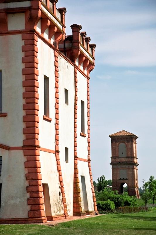 Famosa antica italiano villa-palazzo situato a Ferrara, denominato Delizia di Ferrara