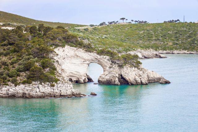 Rocce bianche a Gargano in Puglia