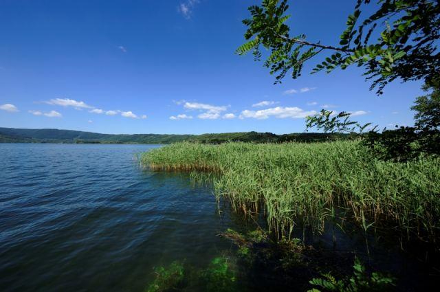 Foto panoramica del lago di Vico nel Lazio
