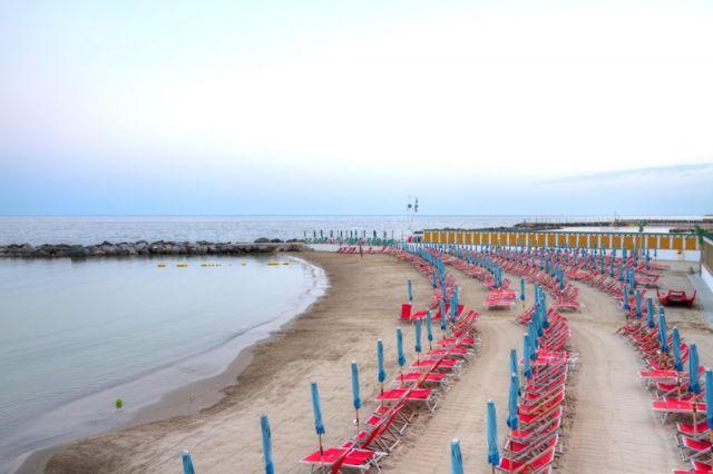 Spiaggia a Sanremo in Liguria