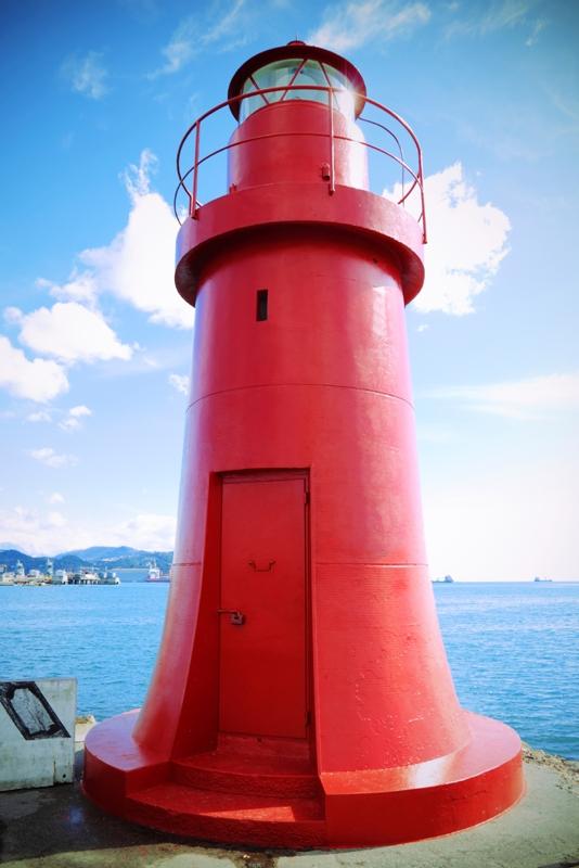 Faro rosso a La Spezia