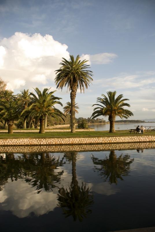 Lago di Fogliano della provincia di Latina
