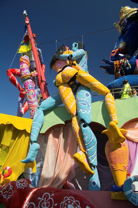 Durante il famoso Carnevale di Viareggio in Toscana
