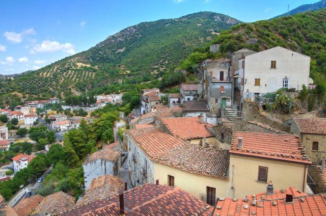 Panorama della città di Valsinni