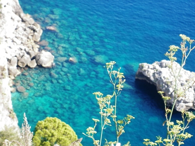 Foto dall'alto del mare e rocce a Capri - Movingitalia.it