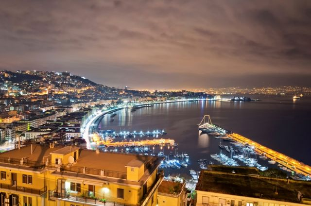 Foto panoramica di Napoli a Posillipo