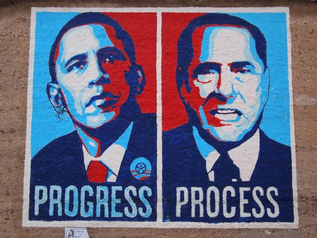 Murales di Obama e Berlusconi in Sardegna a Orgosolo - Movingitalia.it