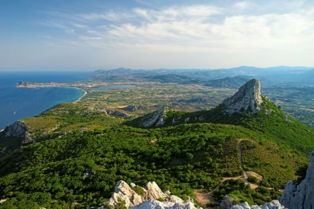 Foto panoramica spiaggia ad Arbatax in Sardegna