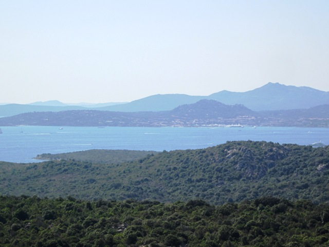 Vista panoramica del Mare in Costa Smeralda