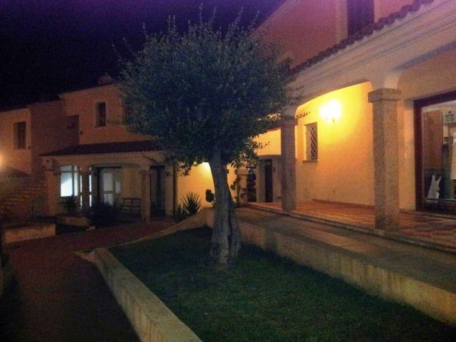 villa e albero di olivo a Budoni di notte - Movingitalia.it