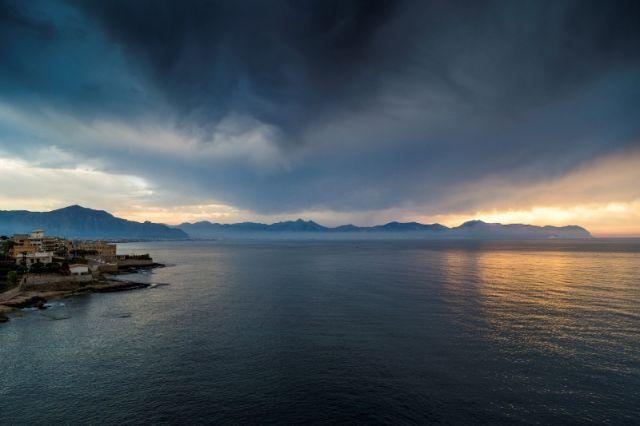 Cielo e nuvole ad Aspra a Palermo