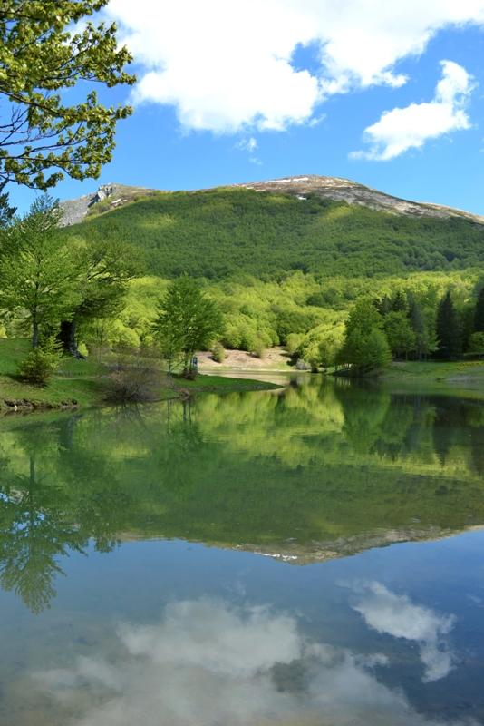 Lago Verde e montagne