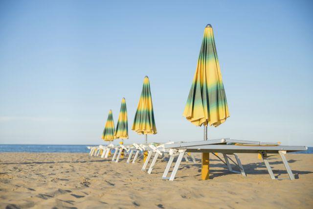 Spiaggia e ombrelloni a Riccione
