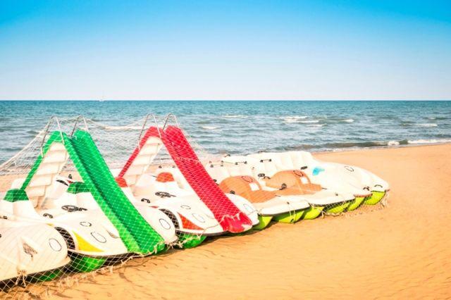 Famosa spiaggia di Rimini Emilia Romagna