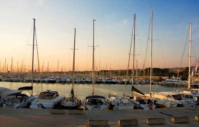 Porto di Civitavecchia nel Lazio
