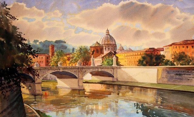 Dipinto della città di Roma - Movingitalia.it
