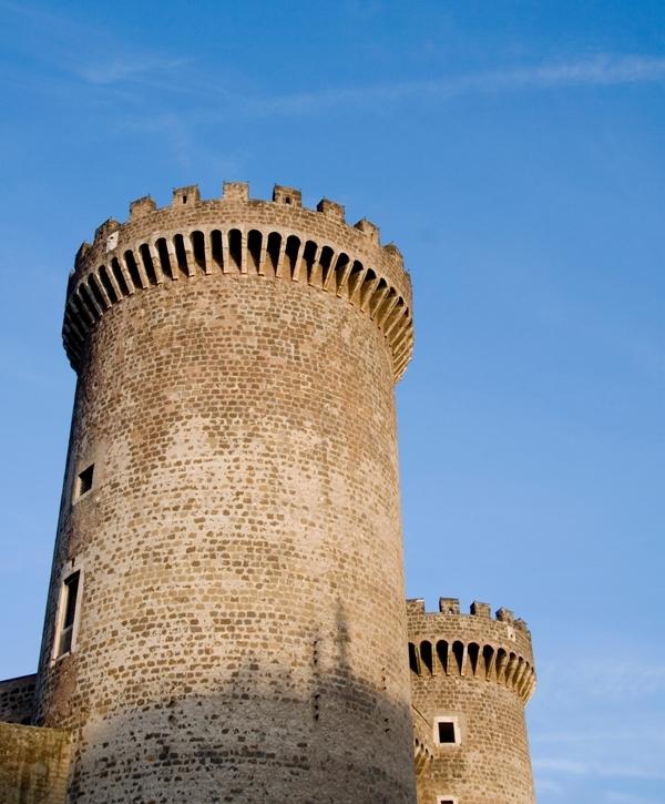 Foto panoramica del castello di Tivoli