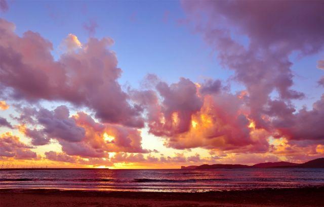 Panorama cielo e nuvole ad Alghero