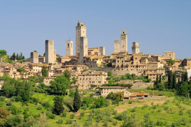 Foto panoramica della città di San Gimignano