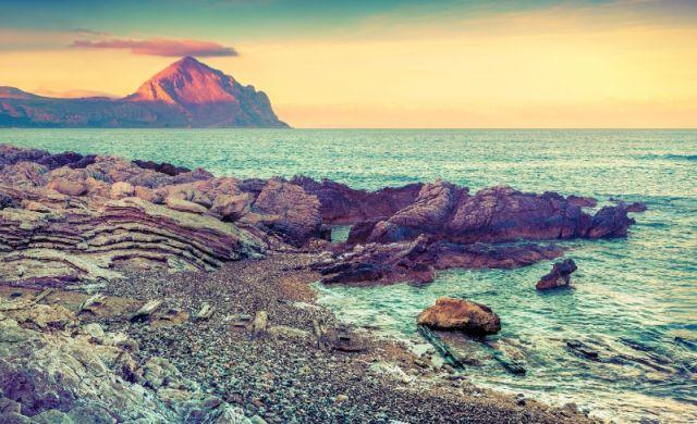 Foto panoramica e cielo a Monte Cofano in Sicilia - Movingitalia.it