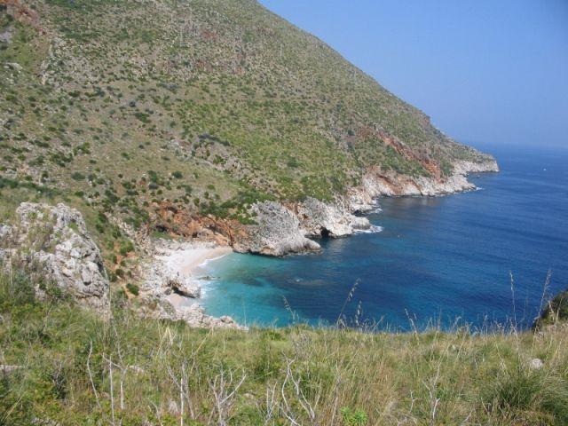 Tratto di spiaggia a San Vito Lo Capo in Sicilia