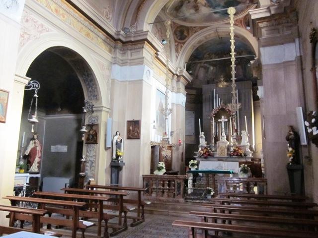 Chiesa Pogliana Bisuschio interno