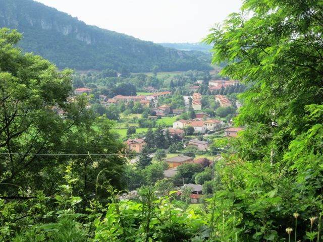 Vista panoramica di Bisuschio da Pogliana