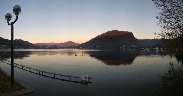 Lago Esondato a Lavena Ponte Tresa
