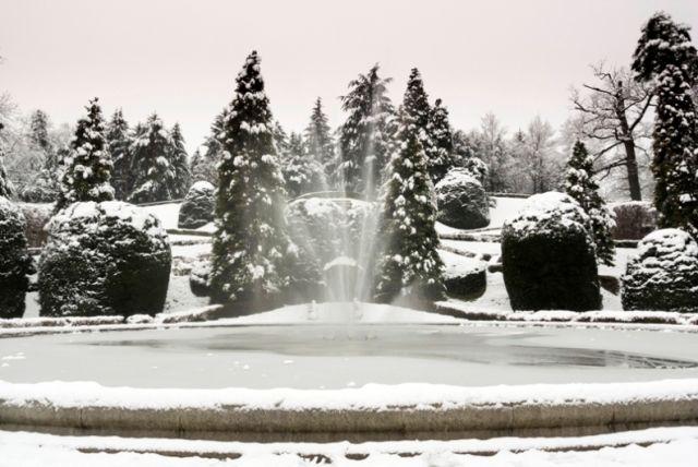 Giardinetti a Varese con la neve