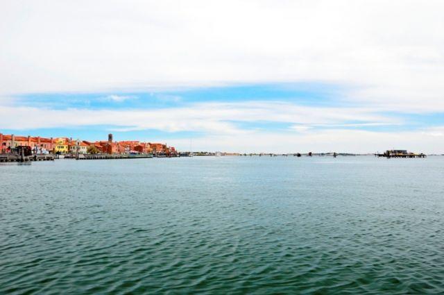 Foto panoramica di Chioggia vicino a Venezia