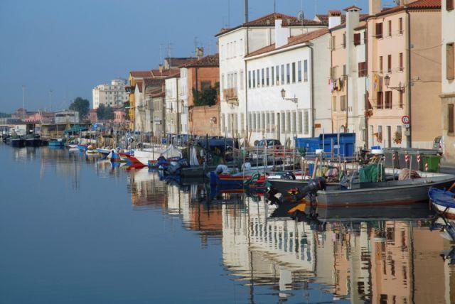 Foto panoramica del Porto di Chioggia