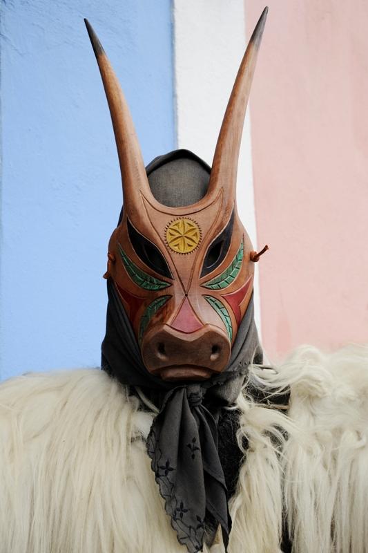 Sardegna - Tradizionale maschera di carnevale di Ottana Chiamata Boes - Movingitalia.it