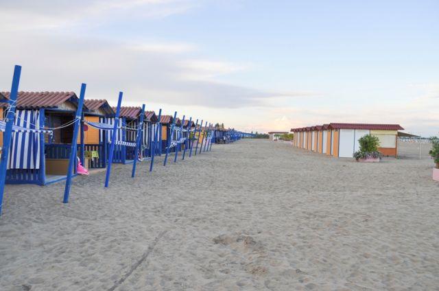 Spogliatoi nella spiaggia di Venezia - Movingitalia.it