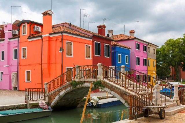 Foto delle case a Burano Venezia - Movingitalia.it