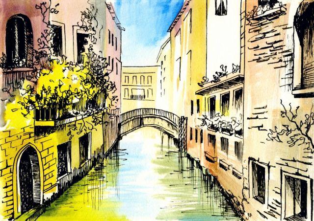 Dipinto della città di Venezia - Movingitalia.it