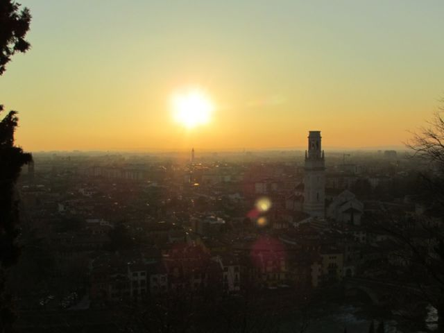 Tramonto a Verona - Movingitalia.it