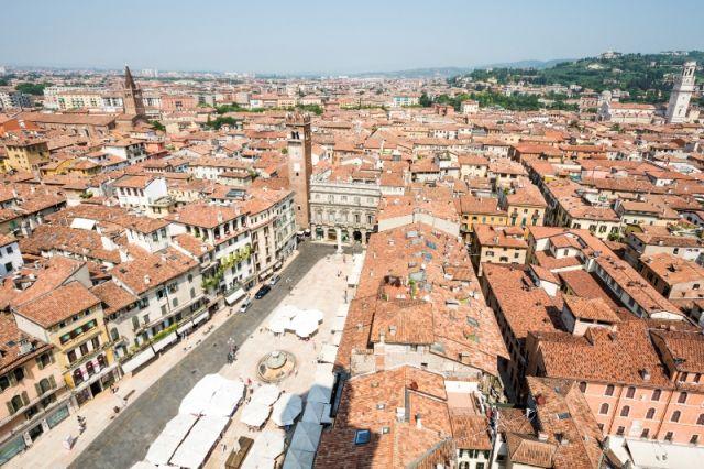 Case ed edifici dall'alto della città di Verona - Movingitalia.it