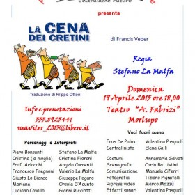al Teatro Aldo Fabrizi LA CENA DEI CRETINI